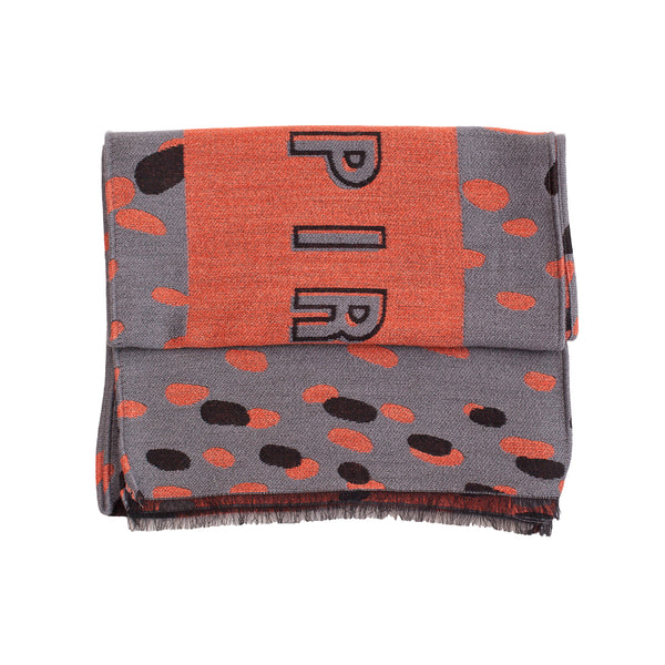 "Unisex Scarf ""ASPIRE TO INSPIRE GREY-PEACH"""