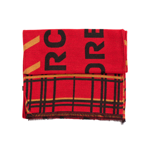 "Unisex Scarf ""SARCASM RED-ORANGE"""