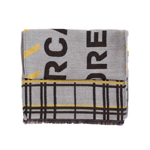 "Unisex Scarf ""SARCASM GREY-YELLOW"""