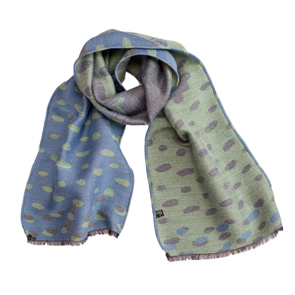 "Unisex Scarf ""ASPIRE TO INSPIRE BLUE-MENTHOL"""