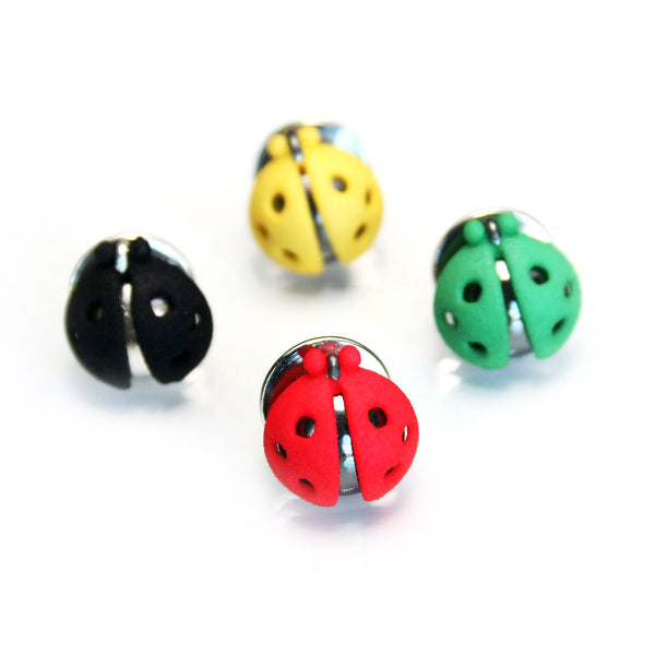 "Brooch ""Ladybugs"""