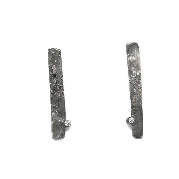 "Earrings ""KÕIV"" with Cubic Zirconia"