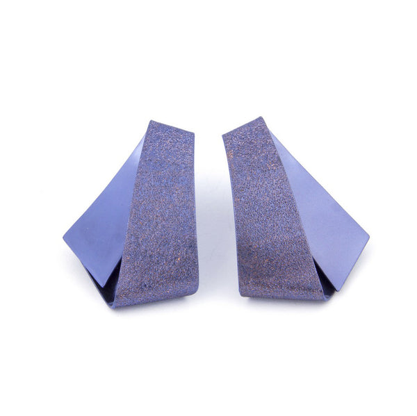 "Koi Kawarimono Earrings ""Purplish Blue"""