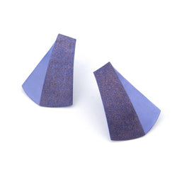 "Koi Earrings ""Purplish Blue"""
