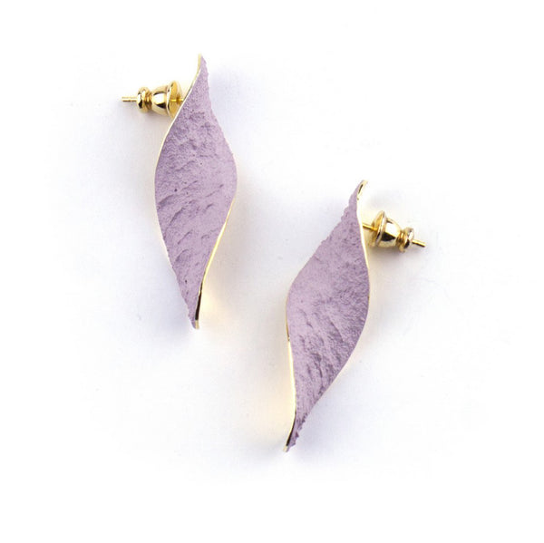 "Shades Ovale Earrings ""Lilac"""