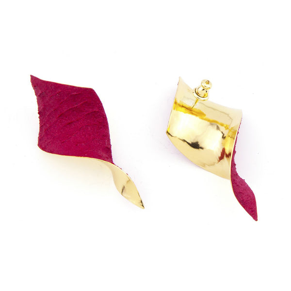 "Shades Rhombus Earrings ""Burgundy Red"""
