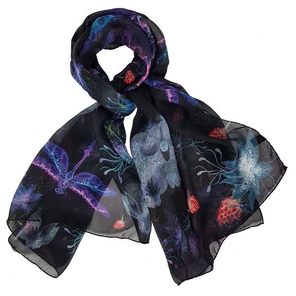 "Silk Scarf ""Love in a Mist"""