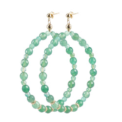 "Hoops Earrings ""Agate"" XL"