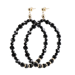 "Hoops Earrings ""Onyx"" XL"