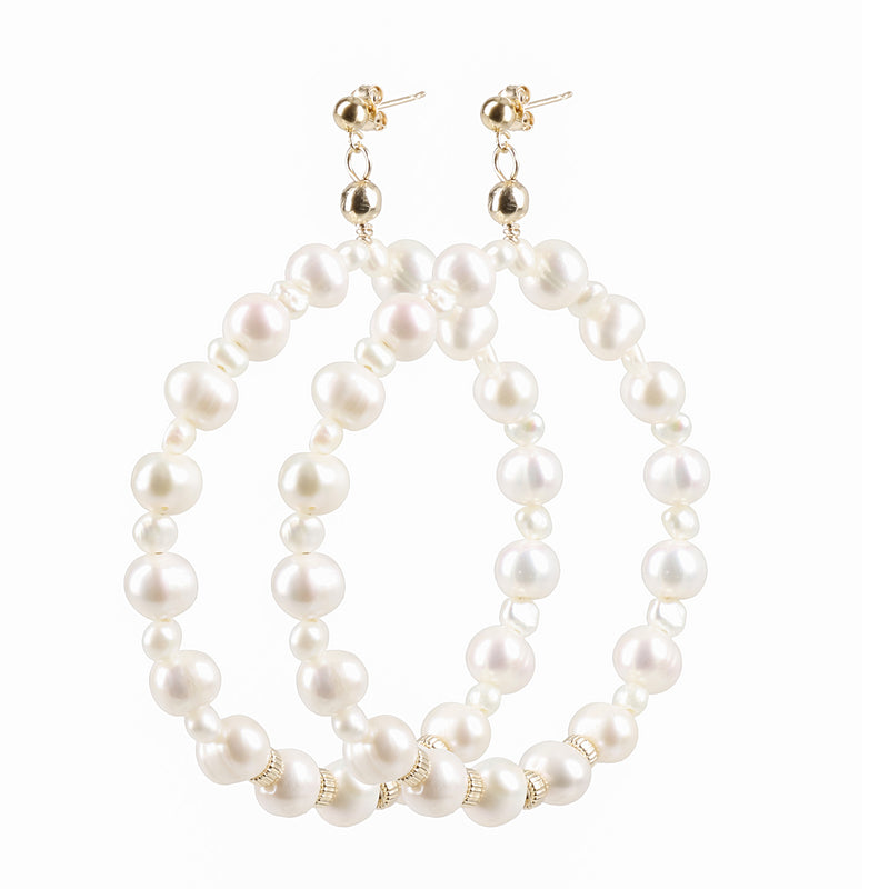 "Hoops Earrings ""Pearl"" XL"
