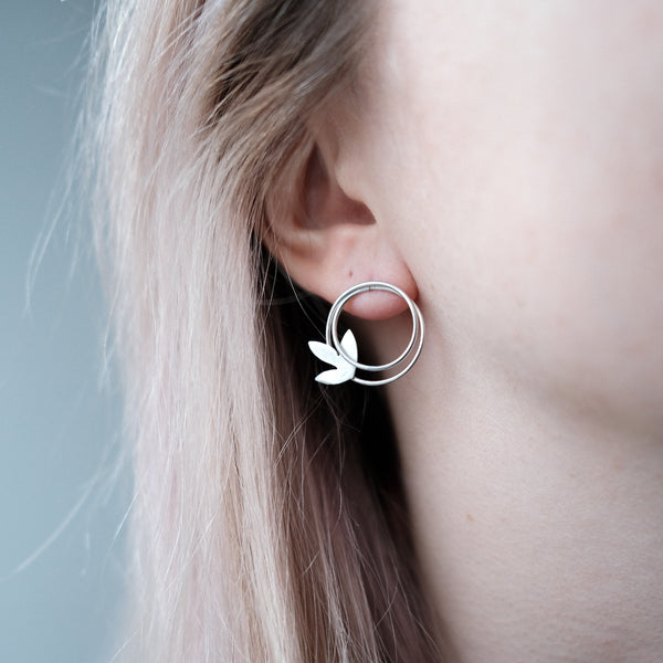 "Spring Naive Earrings ""Leaf"""