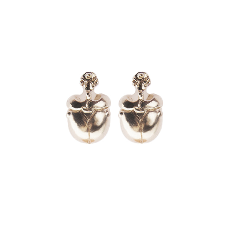 "Mini Light Scarab Earrings ""NEFFI"""