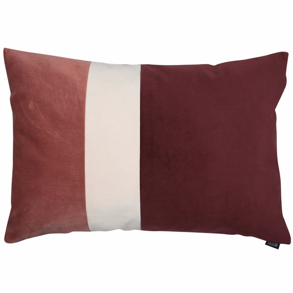 "Velvet Trio Midi Decorative Pillow ""Velvet Pink/Red"""