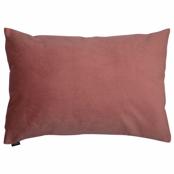 "Velvet Trio Midi Decorative Pillow ""Velvet Red/Pink"""