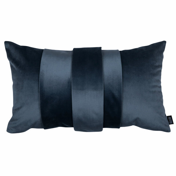 "Velvet Trio Mini Decorative Pillow ""Velvet Dark Gray"""