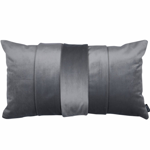 "Velvet Trio Mini Decorative Pillow ""Velvet Grey"""