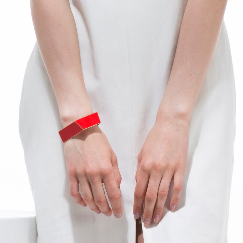 "Folded Bracelet ""Traffic Red"""