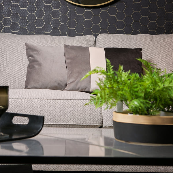 "Velvet Trio Midi Decorative Pillow ""Velvet Gray/Dark Gray"""
