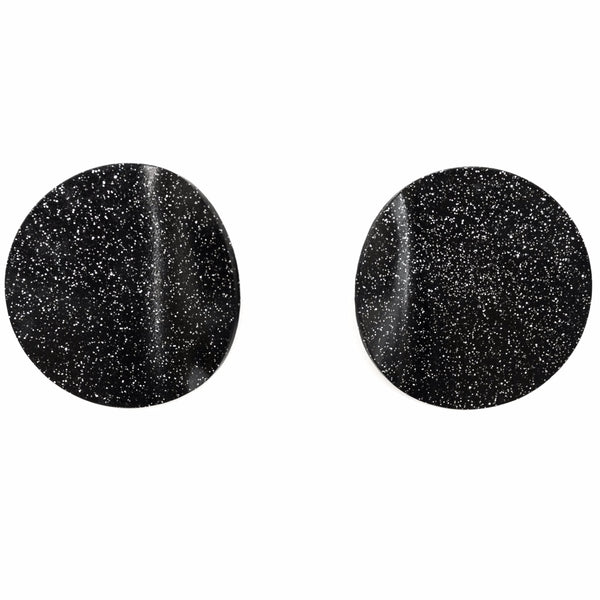 "SOHO Earrings ""Black Silver"" M"