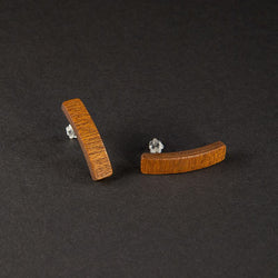 "Curved Earrings ""Mahogany"""