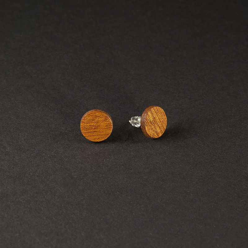 "Dot Earrings ""Mahogany"""