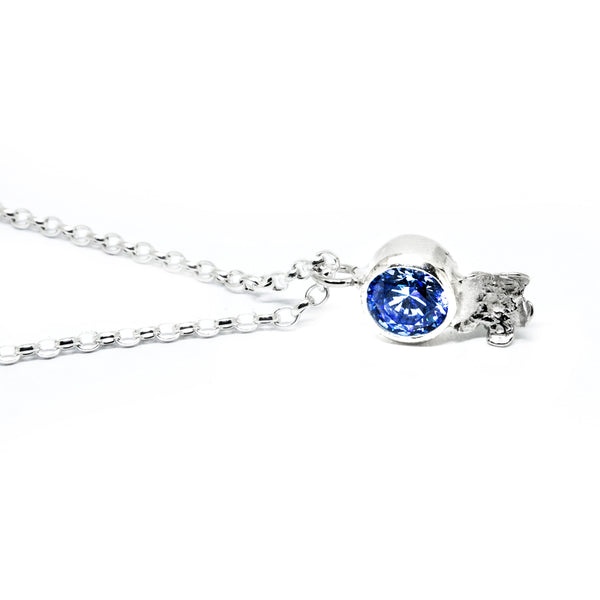 "Spring Necklace ""Forget-Me-Nots"" with Cubic Zirconia"