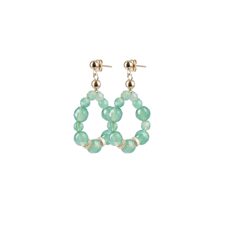 "Hoops Earrings ""Agate"" Mini"