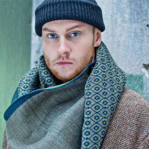 "Unisex Scarf ""EVIL EYE BLUE"""