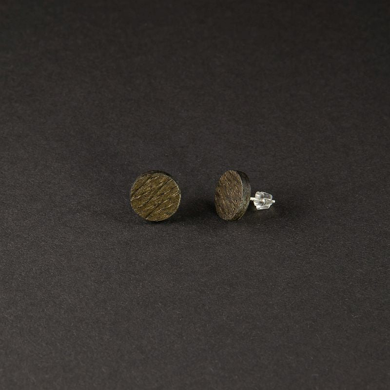 "Dot Earrings ""Black Oak"""
