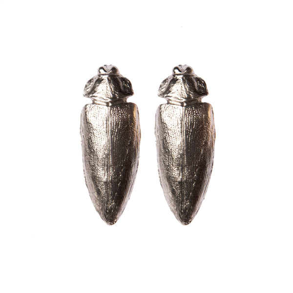 "Dark Beetle Earrings ""NEFFI"""