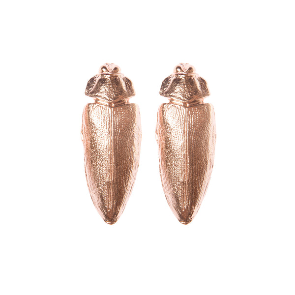 "Rose Gold Beetle Earrings ""NEFFI"""