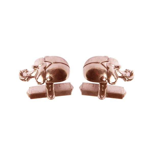 "Rose Gold Scarab Cufflinks ""NEFFI"""