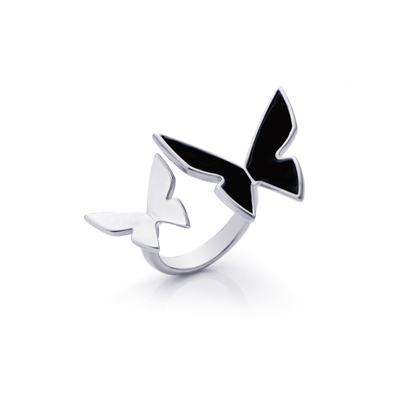 "Les Papillons Double Ring ""Black"""