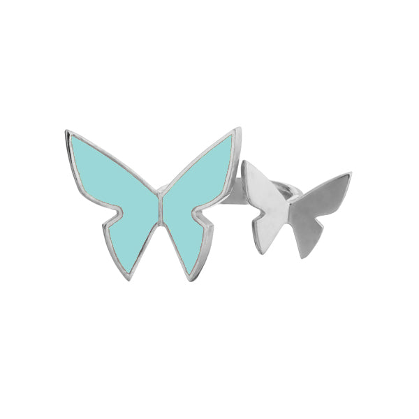 "Les Papillons Double Ring ""Turquoise"""