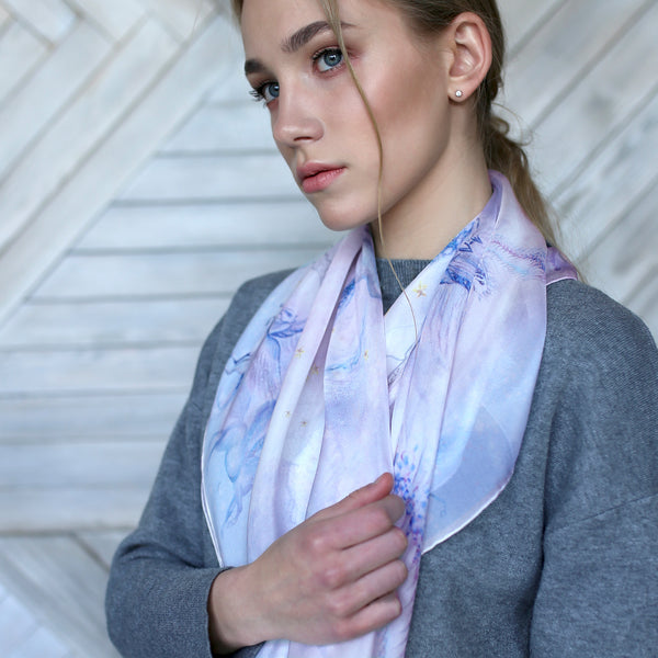 "Silk Scarf ""Pegas Light"""