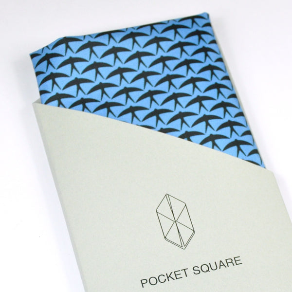 "Pocket Square ""Blue+black"""