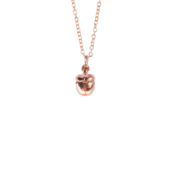 "Mini Rose Gold Scarab Pendant ""NEFFI"""