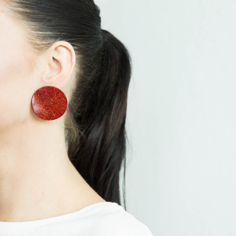 "SOHO Earrings ""Ruby"" S"