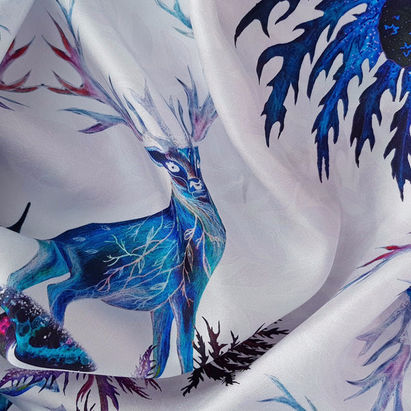 "Silk Scarf ""Sea Holly"""