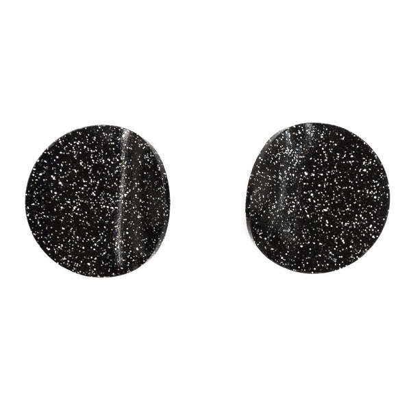 "SOHO Earrings ""Black Silver"" S"