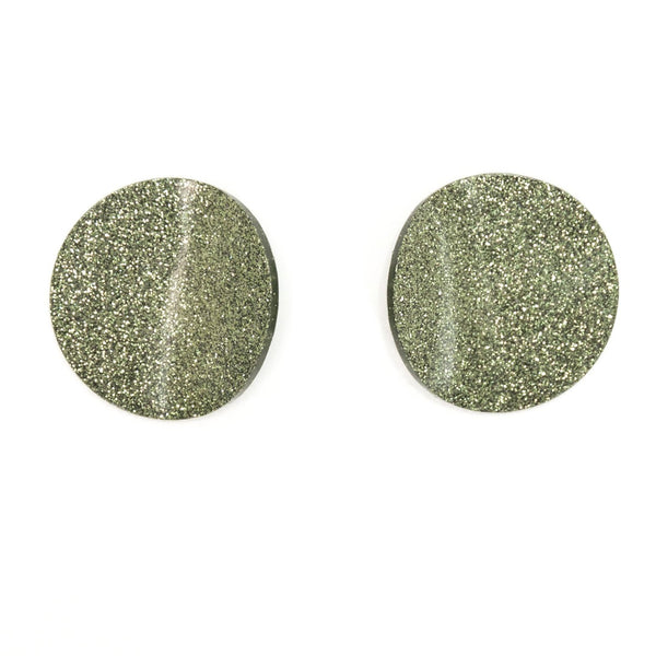 "SOHO Earrings ""Dark Olive"" S"