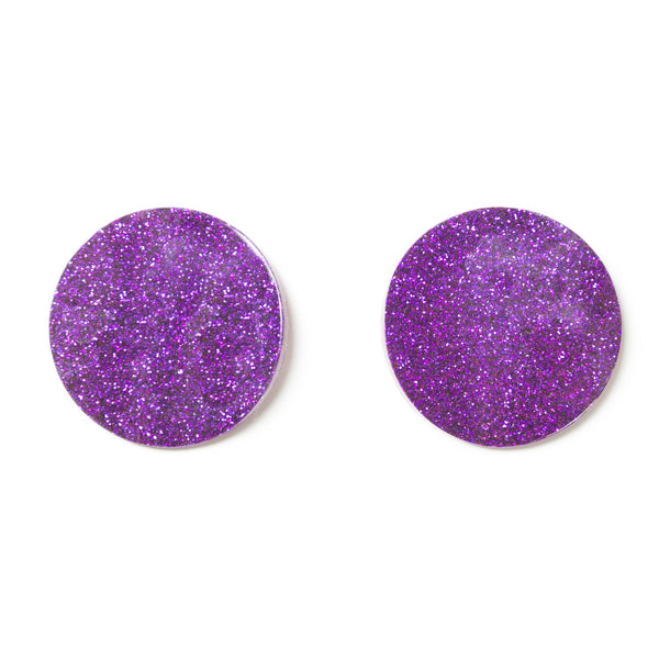 "SOHO Earrings ""Purple"" S"