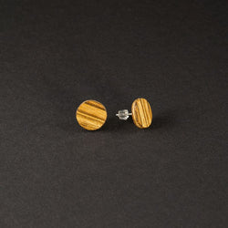 "Dot Earrings ""Zebrano"""