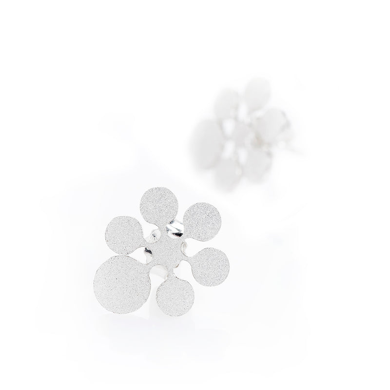 "Earrings Single ""Snow Flowers"""