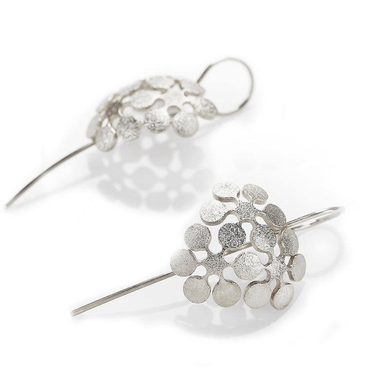 "Earrings Trio ""Snow Flowers"""