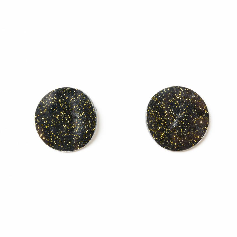 "SOHO Earrings ""Black Yellow"" XS"