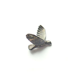 "Bird Pin ""Silver Black"""