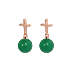 "Crux C Earrings ""Green"""