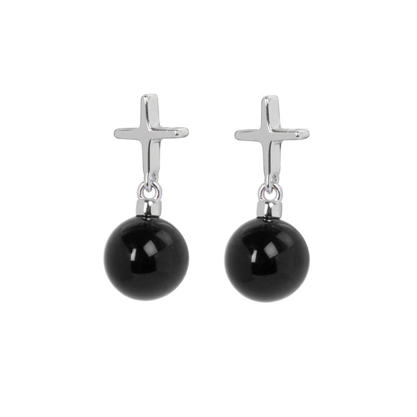"Crux C Earrings ""Black"""