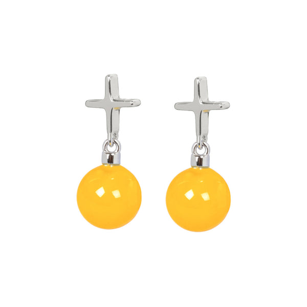 "Crux C Earrings ""Yellow"""